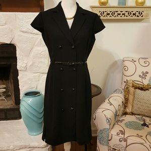 TAHARI BLACK CAREER DRESS SIZE 8